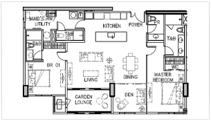 arbor lanes condo in arca south 2 bedroom grand floor plan