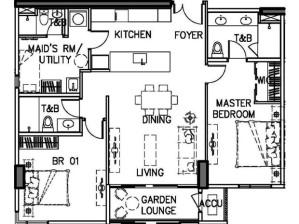 Luxury Condo in Taguig Arbor Lanes Condo in at Arca South by Ayala Land Premier 2BR Classic Floor Plan