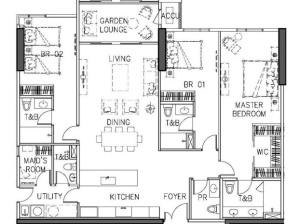Luxury Condo in Taguig Arbor Lanes Condo in at Arca South by Ayala Land Premier 3BR Classic Floor Plan